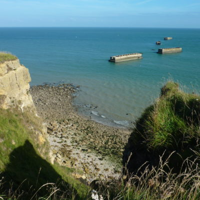 Cliff-Floating-Port-Coast-Normandy