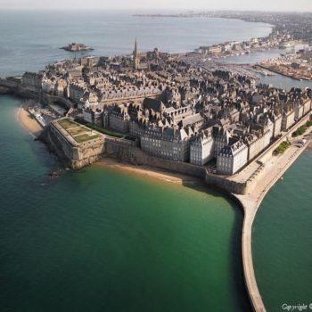 Bretagne, Saint-Malo Vue aérienne
